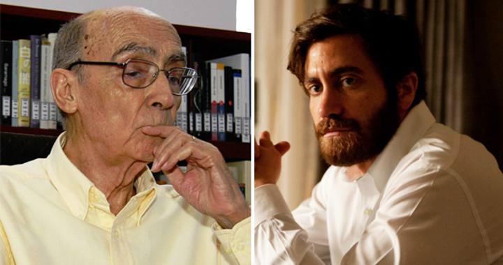 José Saramago, autor de 'El hombre duplicado', y Jake Gyllenhaal, en un fotograma de 'Enemy'