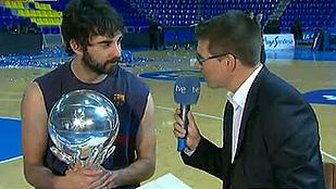 Juan Carlos Navarro celebra con TVE su récord