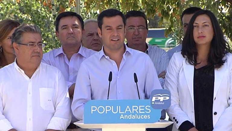 El presidente del PP andaluz dice que no sabe quién manda ahora en el PSOE
