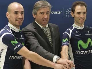 Juanjo Cobo y Alejandro Valverde, estrellas del Movistar