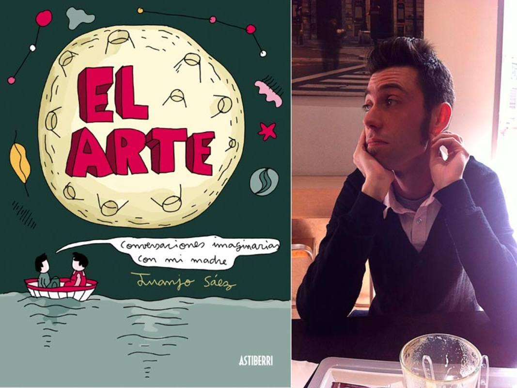 Juanjo Sáez y la portada de 'El arte. Conversaciones imaginarias con mi madre'