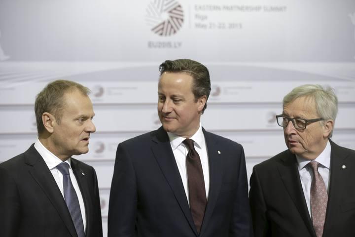 Juncker, Cameron y Tusk