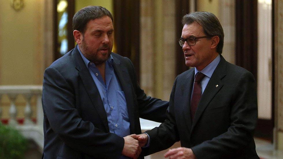 """Junqueras ve """"sintonía"""" con Mas pero no apoyará los presupuestos de 2015"""