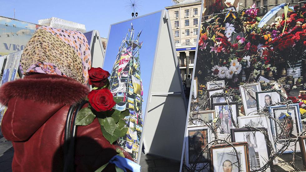 Kiev celebra abrazado a EE.UU. el aniversario del Maidán mientras la guerra en el este no cesa