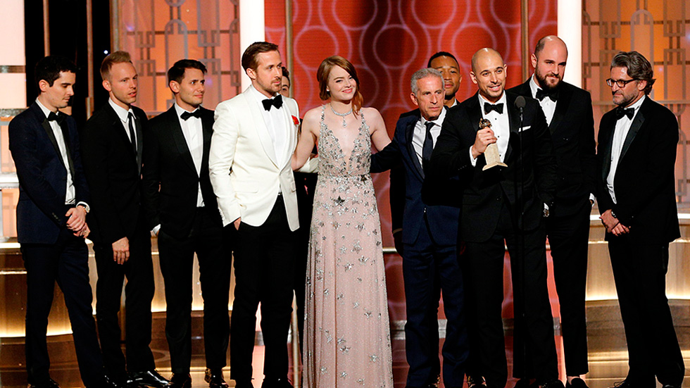 'La La Land' triunfa con siete galardones y se convierte en la película más premiada de los Globos de Oro
