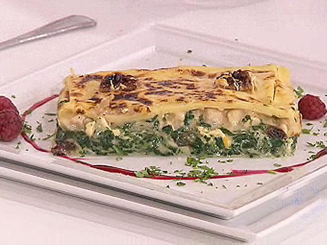 Saber cocinar - Lasaña de espinacas navarras