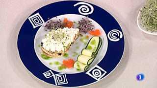 Cocina con Sergio - Lasaña de tortilla con queso y sucedáneo de caviar