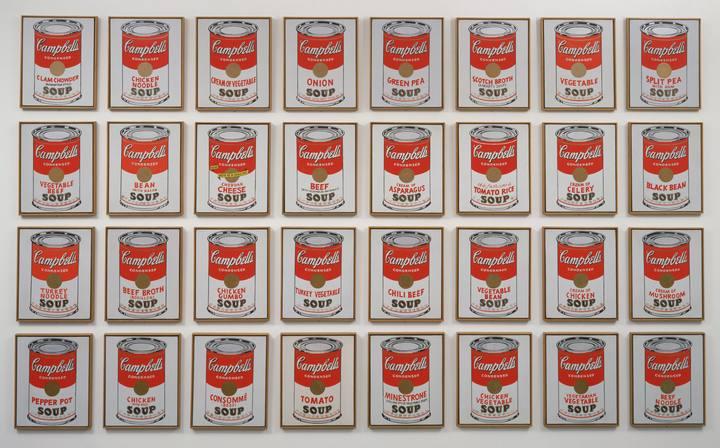 """""""Latas de sopa Campbell's"""", Andy Warhol (1962)"""