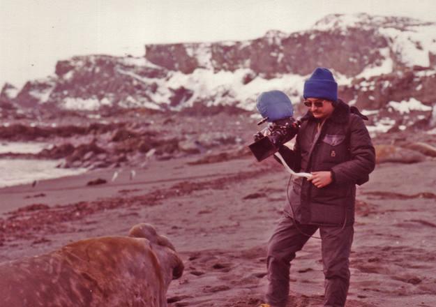 Laureano en la Antártida
