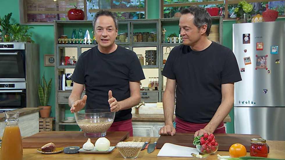Torres en la cocina - Legumbres con almejas y ceviche de gambas