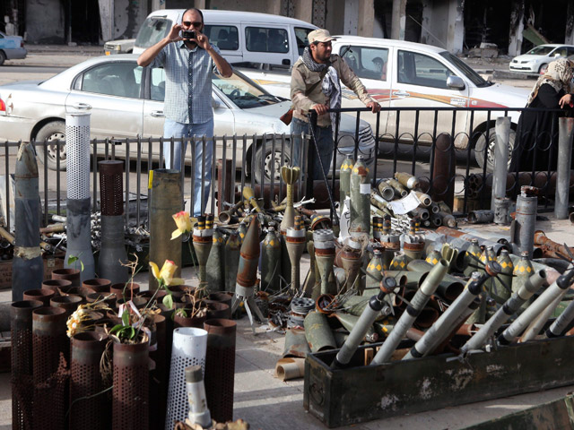 "Hoy ha sido proclamada la  ""liberación total de Libia"" en la Plaza Tahrir de Bengasi"