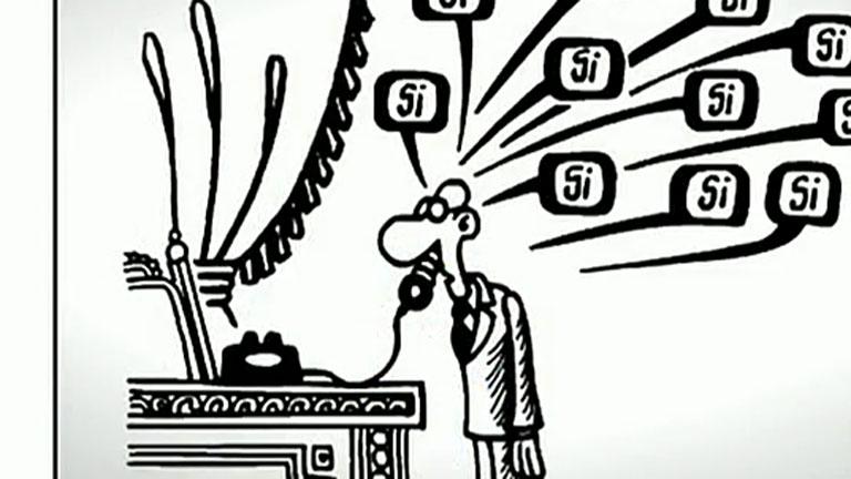 Un libro re ne los mejores chistes de forges en 50 a os for Chistes de oficina