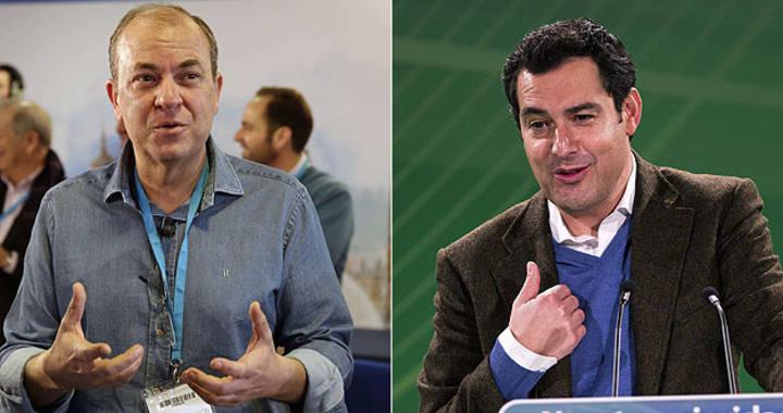 Los líderes populares José Antonio MOnago (i) y Juan Manuel Moreno