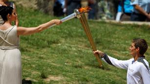 La llama olímpica ya está en marcha