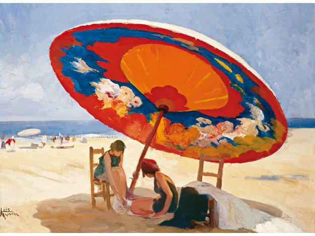 """Lluis Masriera, """"Bajo la sombrilla"""", (1926)"""