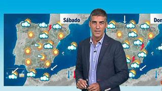 Lluvias en el Cantábrico, Alto Ebro y posibles tormentas en los Pirineos