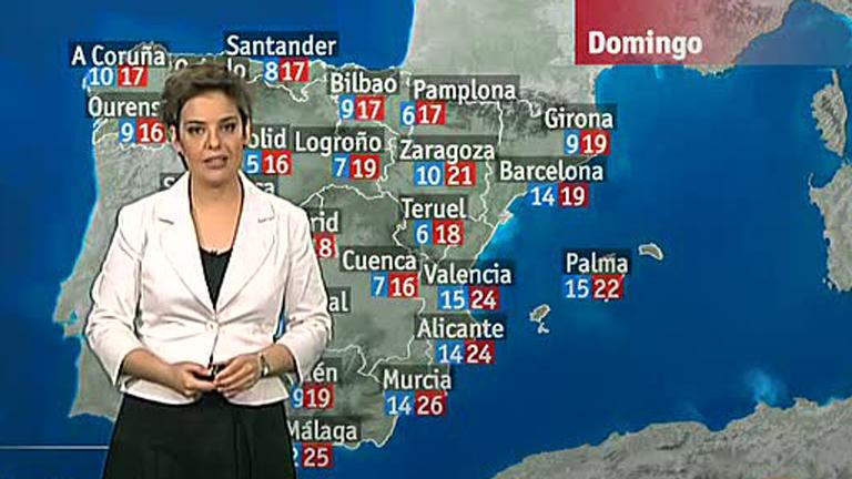 Lluvias en Cataluña, Baleares y Galicia y cielo nuboso en el resto