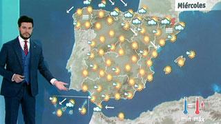 Lluvias débiles en el norte y suben las temperaturas en casi toda España
