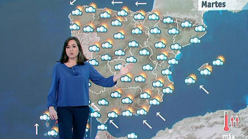 Lluvias fuertes en Canarias y moderadas en muchas áreas de la península