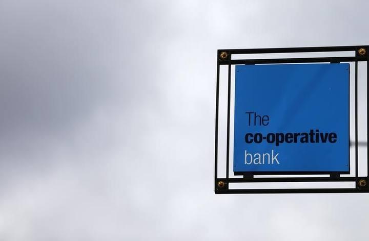 Logo del Co-operative Bank en una de sus oficinas en Londres