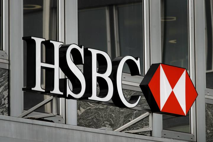 Logo en la sede de la filial suiza del HSBC en Ginebra
