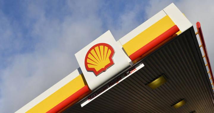 Logo de Shell en una estación de servicio