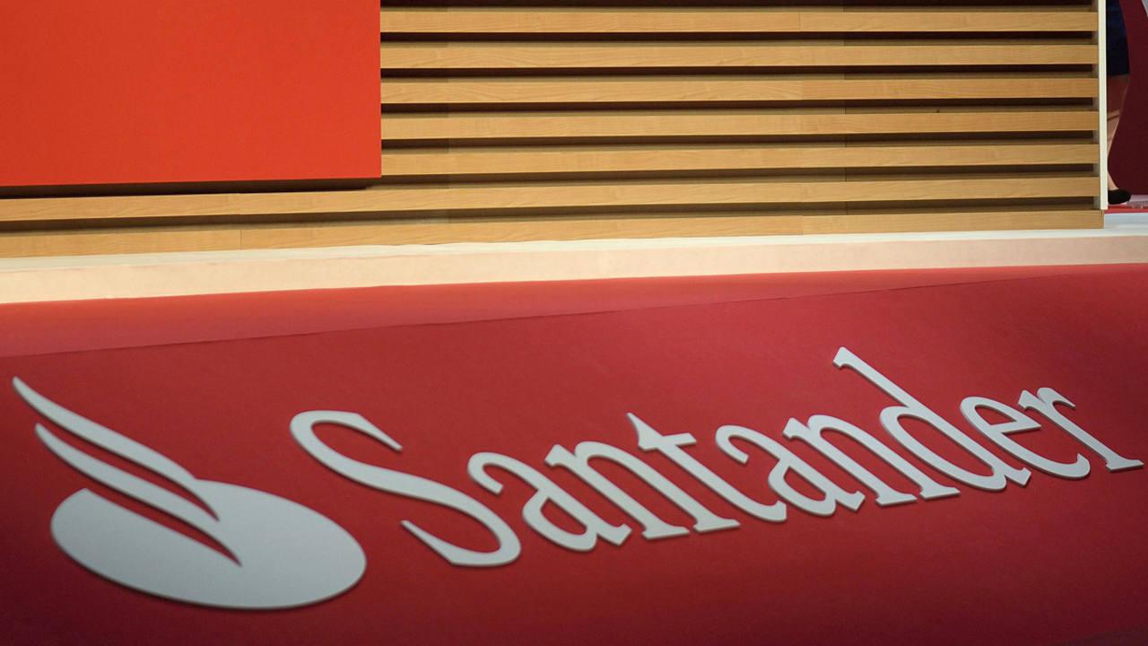 Logotipo del banco Santander