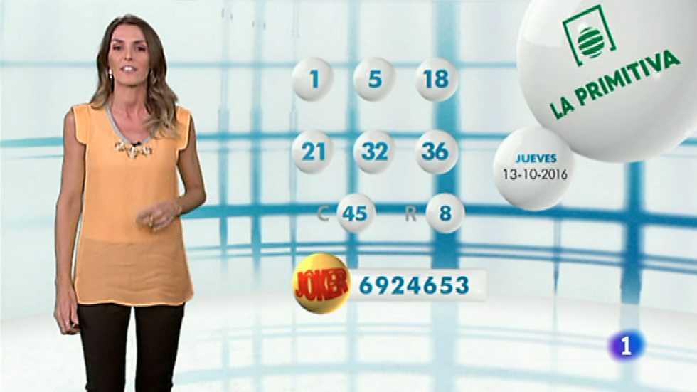 Lotería Nacional + La Primitiva + Bonoloto - 13/10/16