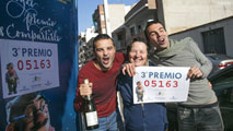 Lotería de Navidad: El tercer premio, muy repartido