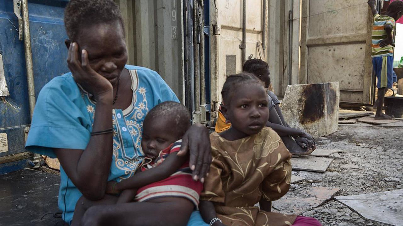 Lucia Daniel, superviviente de la guerra en Sudán del Sur (MSF)