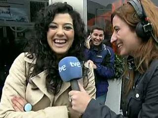 Lucía Pérez, una aficionada más en Jerez