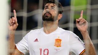 Macedonia 0-2 España. Costa remata una gran jugada de Isco