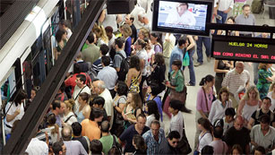 Madrid y Barcelona afrontan este lunes una jornada de huelga en el transporte público