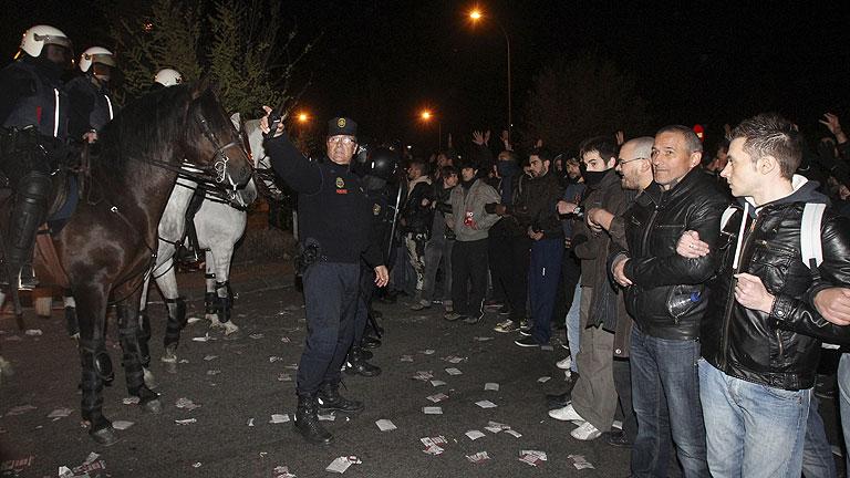 En Madrid los piquetes se han concentrado en el transporte las primeras horas de la huelga