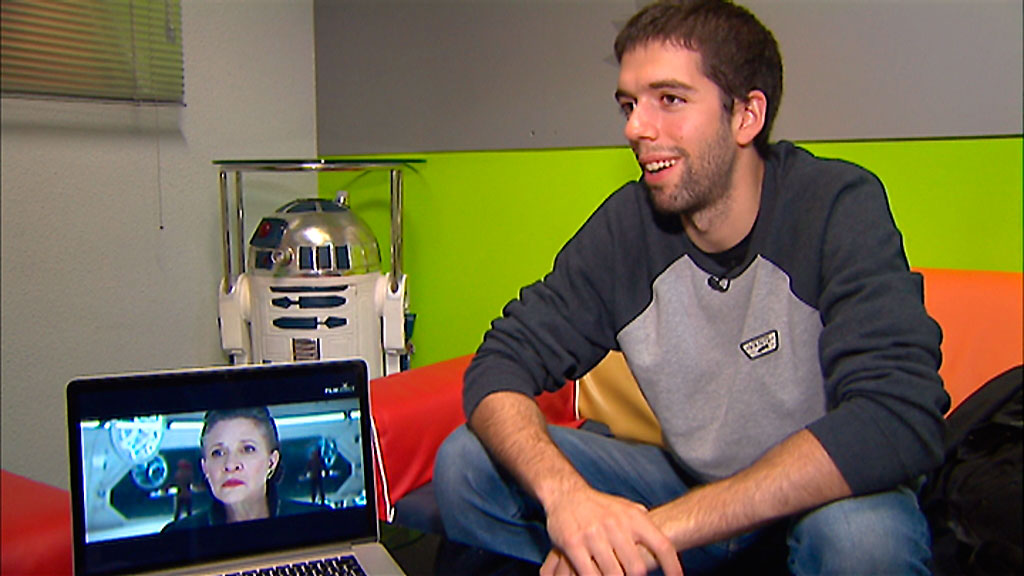 El madrileño Adrián Pueyo participa como especialista en los efectos visuales de la Guerra de las Galaxias