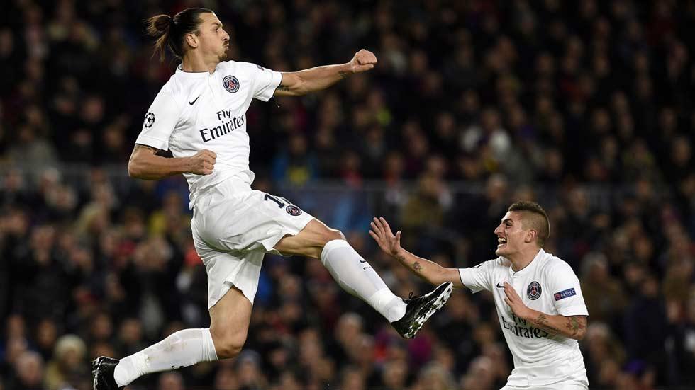 El mago Ibrahimovic adelanta al PSG ante el Barça (0-1)