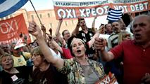Ir al VideoManifestación en Atenas en apoyo del Gobierno y por el No en el referéndum