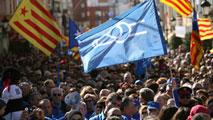 Ir al VideoManifestación contra el Plan Hidrológico de la cuenca del Ebro