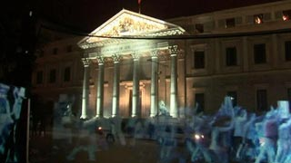 Manifestación de hologramas en Madrid contra la Ley de Seguridad Ciudadana