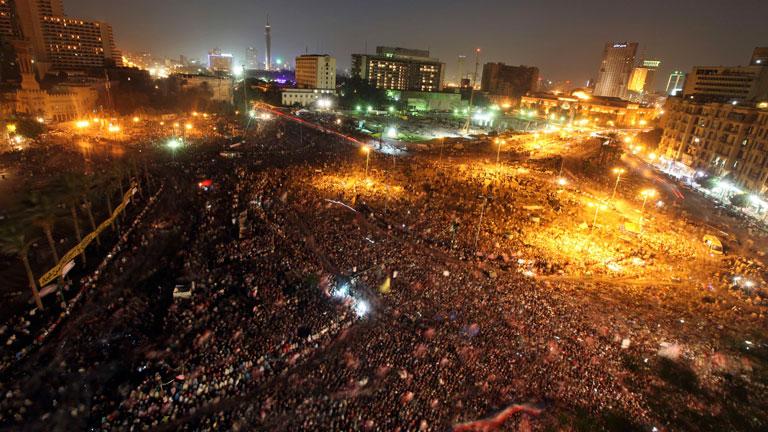 Masiva manifestación en Tahrir contra la Junta Militar