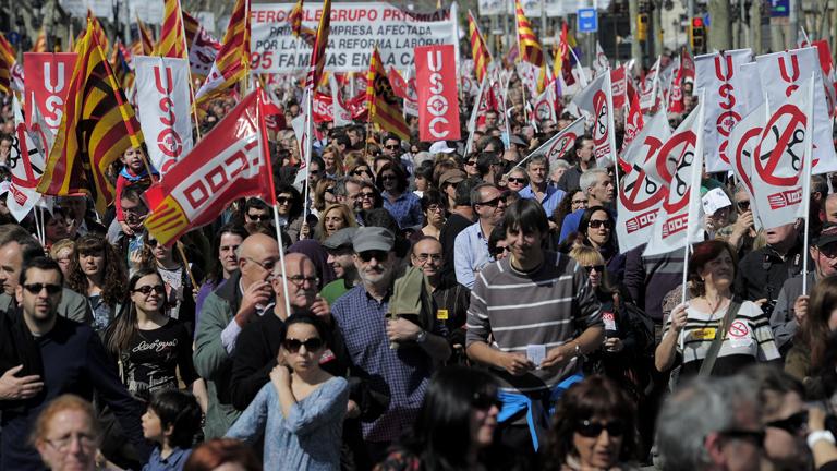 Marchas en más de 60 ciudades de toda España