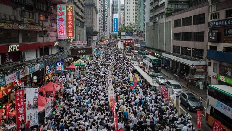Más de medio millón de personas se han manifestado en Hong Kong para pedir más democracia