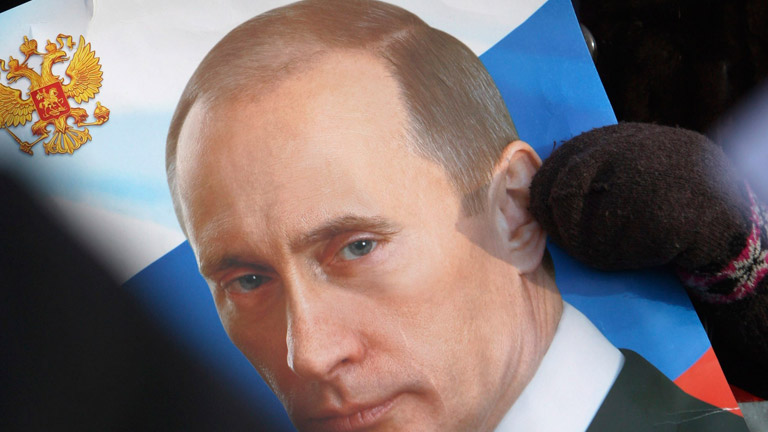 Manifestaciones en Moscu a favor y en contra de Vladimir Putin