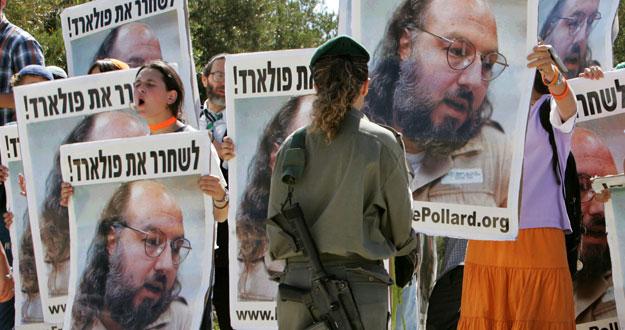 Manifestantes israelíes reclaman la liberación del espía convicto Jonathan Pollard.