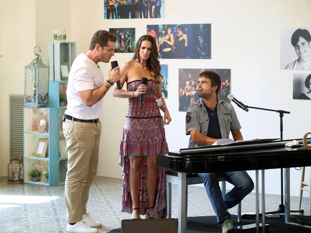 Manu Tenorio y Nuria Fergó en el reecuentro de OT