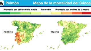 La mortalidad por cáncer en España varía hasta en un 50% según la zona