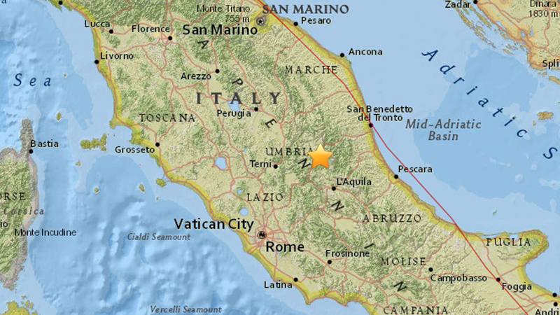 Un terremoto de magnitud 53 sacude el centro de Italia