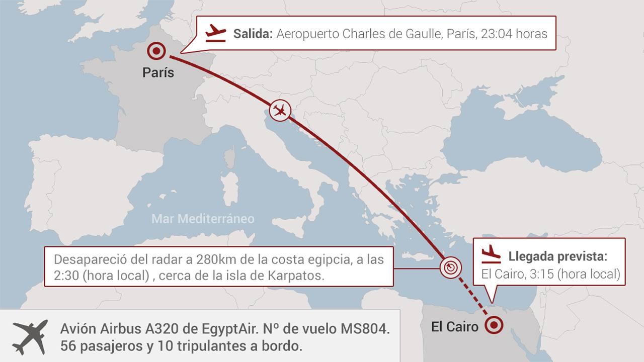 La segunda caja negra del avi n de egyptair revela que la for Vuelos de paris a barcelona