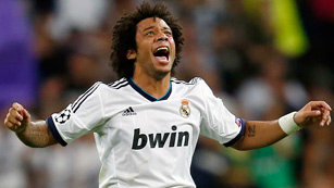 Marcelo iguala con un tiro afortunado (1-1)