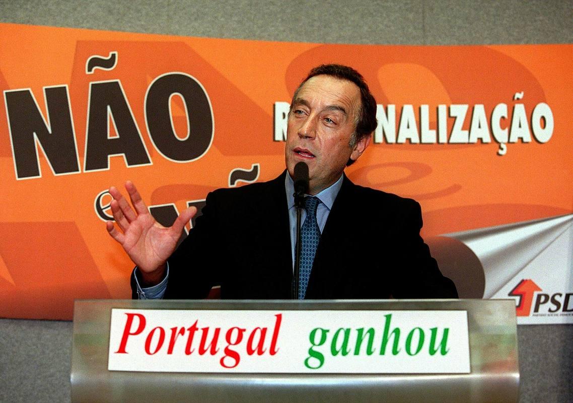 Marcelo Rebelo de Sousa, en una imagen de archivo en 1998, cuando era presidente del Partido Socialdemócrata (PSD).